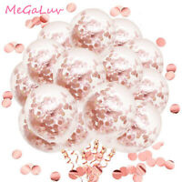 50pcs 12inch Rose Gold Confetti Latex Balloons for Wedding Party Bridal Shower