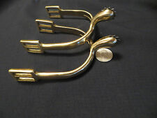 1885 Brass Cavalry Spurs w/ rowels New