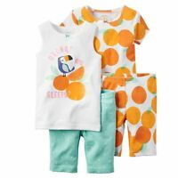 *Special Price!* CARTER'S Infant Girl 4-Piece Pajamas Sets Size 6-24 Mo. NWT $34