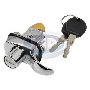 1965-1966 VW Bug Chrome Rear Hood Latch Decklid Lock w/ Keys 113827503A Bus 1966