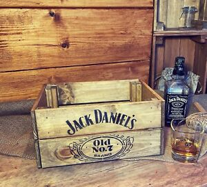 Rustic And Vintage Wooden Jack Daniels Old No7 Crate - Box Storage