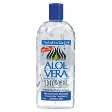 FRUIT OF THE EARTH ALOE VERA 340G 100% GEL NO COLOUR ADDED NO ALCOHOL SUNBURNS