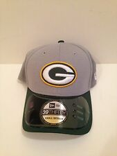 Green Bay Packers New ERA 39Thirty 2015 Training Camp Stretch fit hat S/M Gray