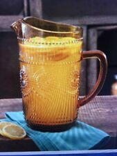 The Pioneer Woman Adeline 54-Ounce Amber Glass Pitcher New