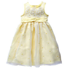 NWT Target Girls Yellow Embroidered Daisy Organza Party Dress Size 5