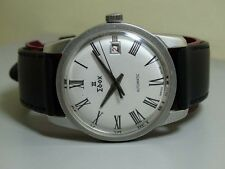 VINTAGE Edox AUTOMATIC DATE SWISS MENS WRIST WATCH e192 Old used Antique