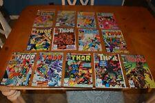 LOT 13 COMIC BOOKS BAKERS DOZEN RARE KEY ISSUES THOR, SQUADRON SUPREME & MORE