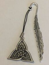 CELTIC TRIANGLE DR55 Made From Fine English Pewter On A FEATHER Bookmark