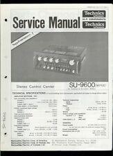 Original Factory Technics/Panasonic SU-9600 Stereo Amplifier Service Manual
