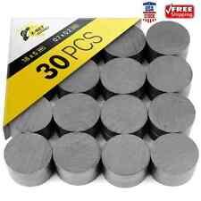 30 Pcs Round Disc Ceramic Magnets Flat Circle Magnet Crafts Science Amp Diy 18 Mm