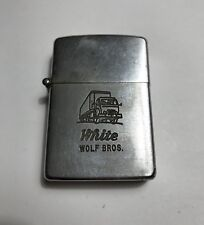 1950's White Wolf Bros. Trucking Advertising Zippo Lighter - Semi Truck