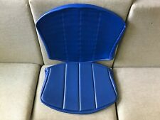 Vintage Knoll Bertoia Wire Side Chair 2 Piece Full Seat Cover Pad Blue Authentic