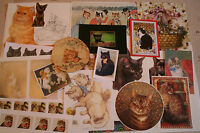 job lot of ephemera, c. 25 pieces, Subject: CATS & KITTENS