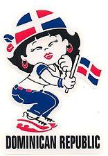"Dominican Republic ""DIVA"" ""Nena"" Vinyl Car Sticker 6""x 4"""
