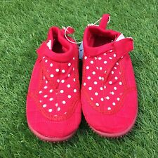 Girls Pumpkin Patch Size 10 Red Spotty Aqua Sock Boots/Shoes