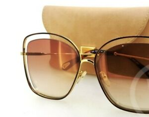 Chloe Sunglasses Havana Bronze Brown with Case Free Post