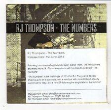 (FY328) RJ Thompson, The Numbers - 2014 DJ CD