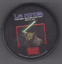 2010 LOS ANGELES KINGS STAR WARS THE CLONE WARS NIGHT YODA HOCKEY PUCK 3/22/10