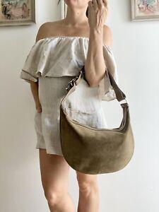 Authentic Vintage GUCCI Crescent HOBO bag PURSE Half Moon