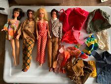 2 VTG 1966 TNT Barbie Dolls Eyelashes / 2 Mod Kens / Plus Extra Clothes  #4B