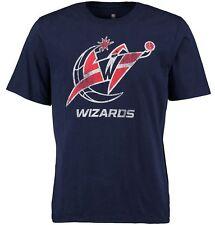 Washington Wizards Majestic Mens Washed Effect Shirt Navy Big & Tall Sizes