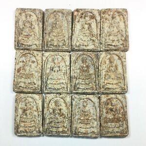 Rare 12 Pcs Phra Somdej Phuson Wat Rakhang Thai Amulet