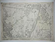 Old Antique Ordnance Map 1933 Lancashire XCVI.16 Manchester New Moston & Moston