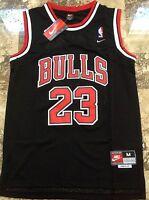 NBA Swingman Jersey MICHAEL JORDAN # 23 BULLS  Basketball Retro Black Red S M L
