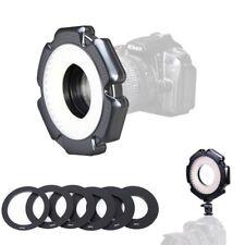 Selens Dimmable 160 LED Macro Ring Light + 6 Adpater For Canon Nikon DSLR Camera