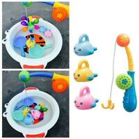 4Pcs/Set Plastic Water Play Fishing & Hook Bath Toy Swimming Kids Floating I1X6
