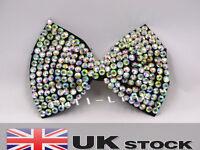 Girl Ladies Fashion Shining New Crystal Diamante Big Bow Hair Clip UK SELLER