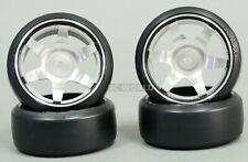 1/10 Metal DRIFT Rims 6 STAR Wheels w/ Yokomo Drift Tires Assembled 4PCS SILVER