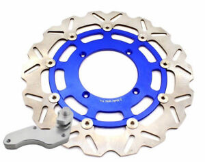 Front Oversize 320MM Brake Disc with Bracket For KAWASAKI KX 250F 450F Blue 2019