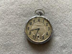 Swiss Made Van Buren Vintage Mechanical Wind Up Pocket Watch
