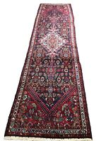 """Old Hand Knotted wool rug bijar 1611a  2'10""""x10'6"""""""