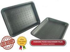 500 x D3 Black Polystyrene Meat / Food Chippy Trays 8.75'' x 5.25'' x 1''