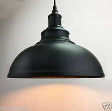 Rustic Retro Vintage Black Iron Metal Ceiling Lamp Pendant Light Chandelier Cafe