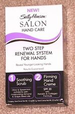 Sally Hansen Salon Hand Care Two Step Renewal System Kit Scrub Cream Spf20 Rare
