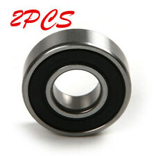 2pcs 6200-2RS Bearing Steel Ball Bearings Motor Wheels 10x30x9mm