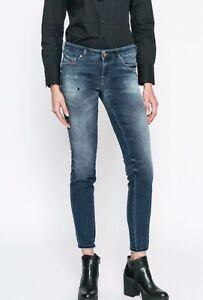 Diesel GRACEY-NE Ladies Sweat Jeans Blue Sweatpants 0686w Size W25