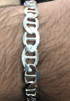 """925 Sterling Silver 7.5MM Mariner Chain Bracelet -7.5""""or 8"""" inch"""