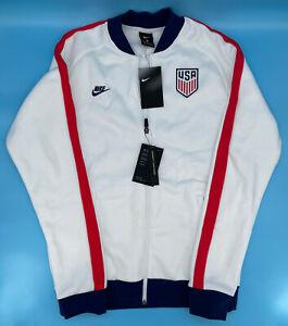 Nike Team USA 2020 Fleece Track Jacket Soccer White CI8452-100 Size Small