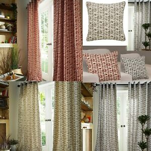 AUSTIN - LINED RING TOP CURTAINS - MODERN - MATCHING CUSHION COVERS AVAILABLE
