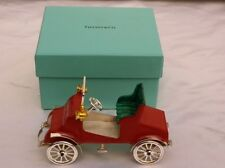 MAGNIFICENT BRAND NEW TIFFANY & CO ENAMELED STERLING SILVER MINIATURE CAR, BOX