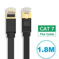 CAT7 RJ45 10Gbps Ethernet Network Lan Cable Flat Shielded patch lead 1.8m
