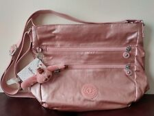 Kipling Zelenka Handbag Crossbody Bag Icy Rose Metallic HB7207 Pink