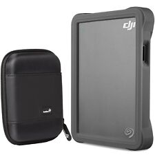 Seagate DJI Fly Drive for Drone 2TB Portable Rugged Hard Drive with Case