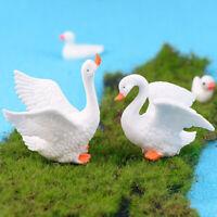Swan DIY Mini Miniature Fairy Garden Decor Craft Dollhouse Accessory gvP wr