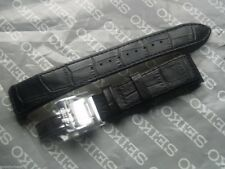 SEIKO PREMIER 21mm BLACK LEATHER DEPLOYMENT WATCH STRAP B21 4A072JL