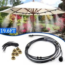 Air Misting Cooling System Fan Cooler Patio Water Mister Mist Nozzles Sprinkler